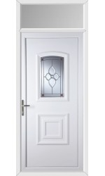 Folkestone Crystal Pearl uPVC Door with Toplight