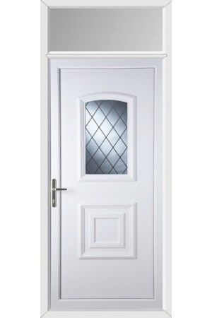 Folkestone Diamond Lead uPVC Door with Toplight
