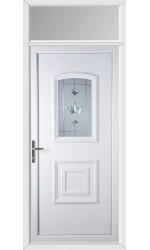 Folkestone Georgian Bevel Blast uPVC Door with Toplight