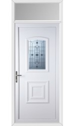 Folkestone Georgian Blast uPVC Door with Toplight
