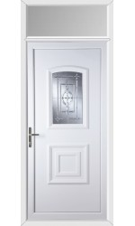 Folkestone New Platinum uPVC Door with Toplight