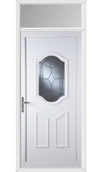Gravesend Centre Bevel uPVC Door with Toplight