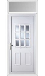 Harrogate Clear Glazed uPVC Door with Toplight
