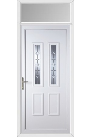 Ilkeston Clear Crystal uPVC Door with Toplight