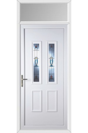 Ilkeston Edwardian uPVC Door with Toplight