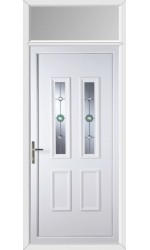 Ilkeston Golf Bevel uPVC Door with Toplight