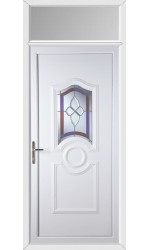 Jacobstow Crystal Gem uPVC Door with Toplight