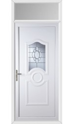 Jacobstow Glue Chip Bevel uPVC Door with Toplight