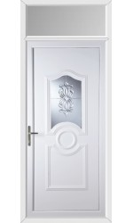 Jacobstow Oxford Crystal uPVC Door with Toplight