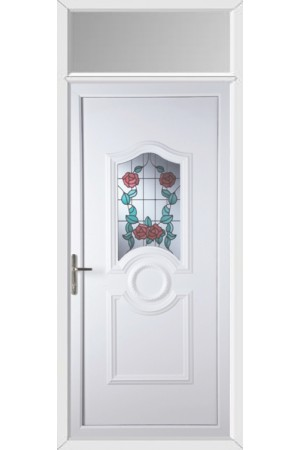 Jacobstow Summer Rose uPVC Door with Toplight