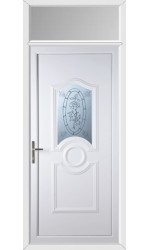 Jacobstow Tea Rose uPVC Door with Toplight