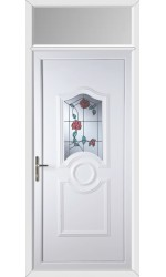Jacobstow Trailing Rose uPVC Door with Toplight