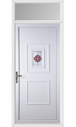 Loughborough Rosette uPVC Door with Toplight