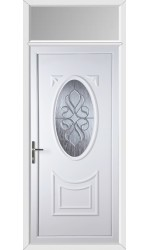Maidenhead Ice Cluster uPVC Door with Toplight