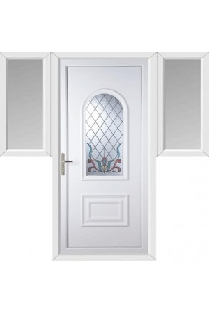 Ellesmere Port Scroll uPVC Door with Two Flags