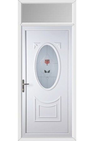 Maidenhead Resin Rose uPVC Door with Toplight