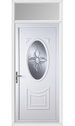 Maidenhead Star Bevel uPVC Door with Toplight