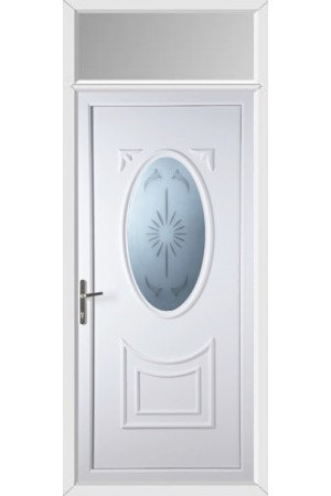 Maidenhead Star Blast uPVC Door with Toplight