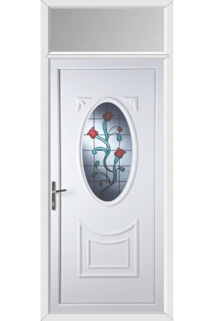 Maidenhead Tulip uPVC Door with Toplight