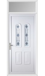 Newport Crystal uPVC Door with Toplight