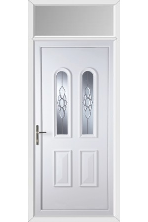 Newport Ice Cluster uPVC Door with Toplight