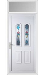 Newport Plumb uPVC Door with Toplight