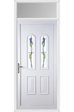 Newport Trinidad Tulip uPVC Door with Toplight