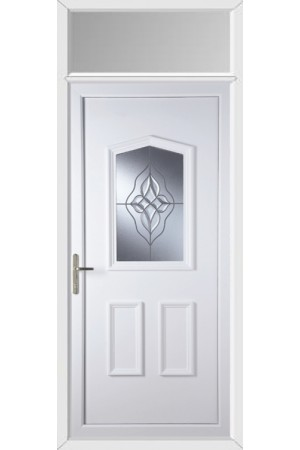 Oakham Wave Cluster uPVC Door with Toplight