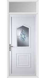 Poole Coloured Bevel uPVC Door with Toplight