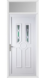 Queensferry Bevel uPVC Door with Toplight