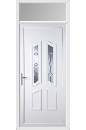 Rotherham Triple Bevel uPVC Door with Toplight