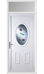 Swansea Rambling Rose uPVC Door with Toplight
