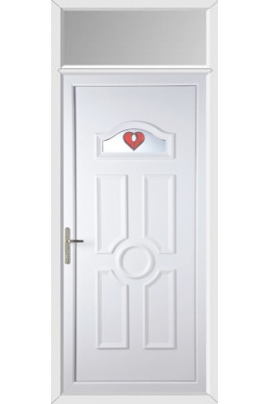 Viewpark Red Jewel uPVC Door with Toplight