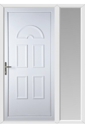 Blackburn Solid uPVC Door with One Sidelight