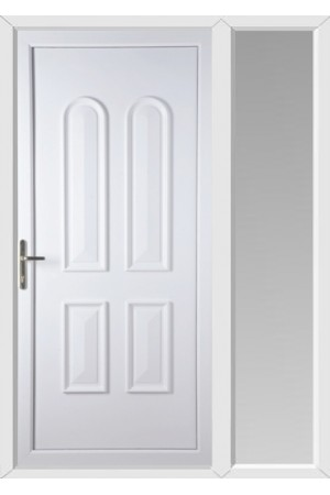 Newport Solid uPVC Door with One Sidelight