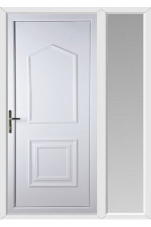 Poole Solid uPVC Door with One Sidelight