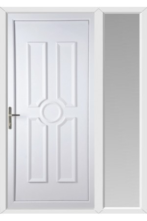 Queensferry Solid uPVC Door with One Sidelight