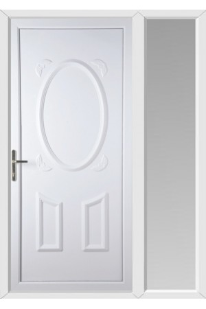 Swansea Solid uPVC Door with One Sidelight