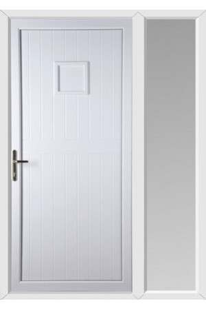 Telford Back Door Solid uPVC Door with One Sidelight