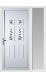 Ashford Rose Vine uPVC Door with One Sidelight