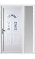 Blackburn Blue Tulip uPVC Door with One Sidelight