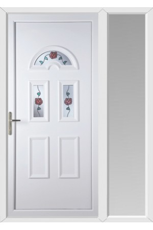 Blackburn Climbing Rose uPVC Door with One Sidelight