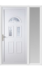 Blackburn New Quasar uPVC Door with One Sidelight