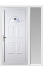 Blackburn Rosette uPVC Door with One Sidelight