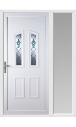 Darlington Bell Flower uPVC Door with One Sidelight