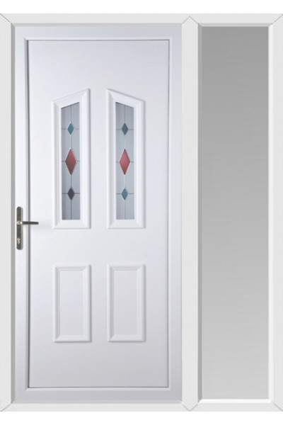 Darlington Coloured Blast Upvc Door With One Sidelight