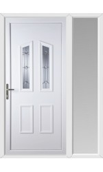 Darlington Georgian Bevel uPVC Door with One Sidelight
