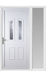 Darlington New Silver uPVC Door with One Sidelight