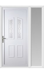 Darlington Queen Anne uPVC Door with One Sidelight