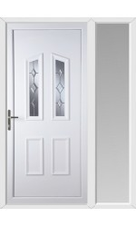 Darlington Star Cut Bevel uPVC Door with One Sidelight
